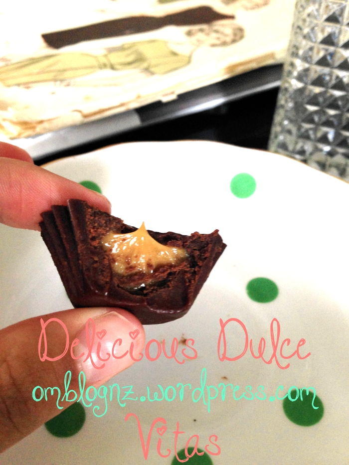 Filled Dulce Vitas- almost ready! Healthy paleo chocolate with condensed milk dulce de leche centres