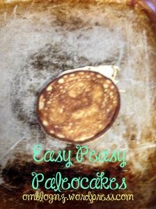 Flipped paleo pancakes