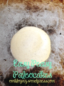 Paleo pancake batter frying in pan with coconut oil