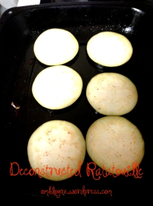 OmBlog Deconstructed Ratatouille aubergine egg plant