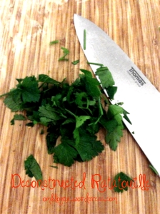OmBlog Deconstructed Ratatouille- chopped parsley