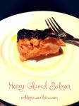 Honey Glazed Salmon with garlic