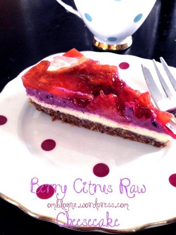 Berry Citrus Raw Cheesecake