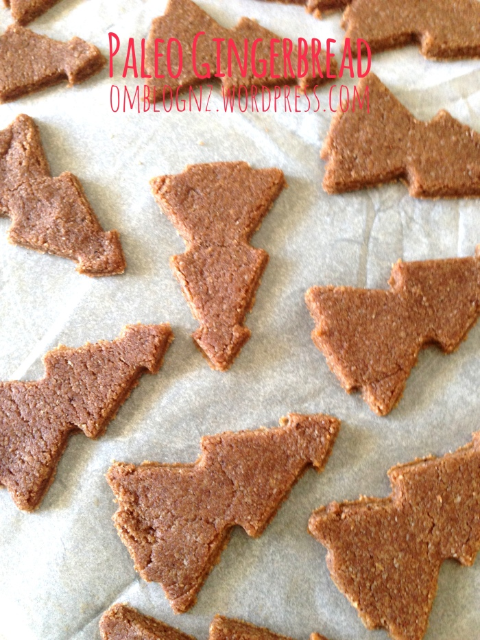Paleo Gingerbread christmas trees christmas gifts secret santa cookies ginger dough