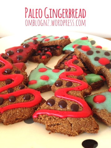 Paleo Gingerbread christmas trees christmas gifts secret santa cookies ginger