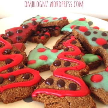 Paleo Gingerbread christmas trees christmas gifts secret santa cookies ginger