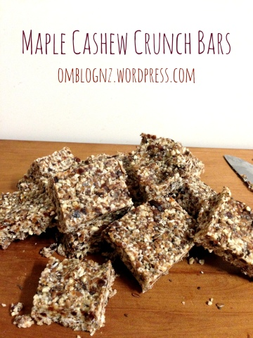 Maple Cashew Crunch Bars