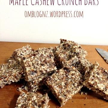 Maple Cashew Crunch Bars