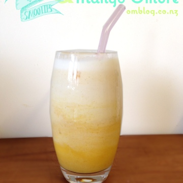 7 Days of Smoothies Cashew Coconut and Mango Lassi inspired Ombre smoothie.