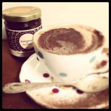 Decadent Hot Chocolate made with Lovingearth Coconut Chocolate Butter #lovingearth