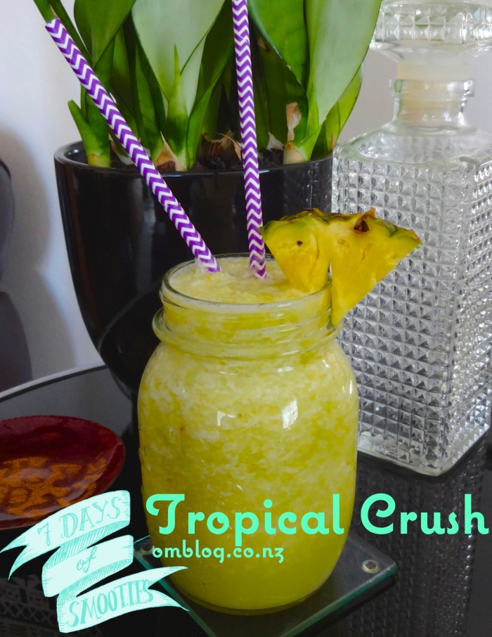 Tropical Crush smoothie with green grapes