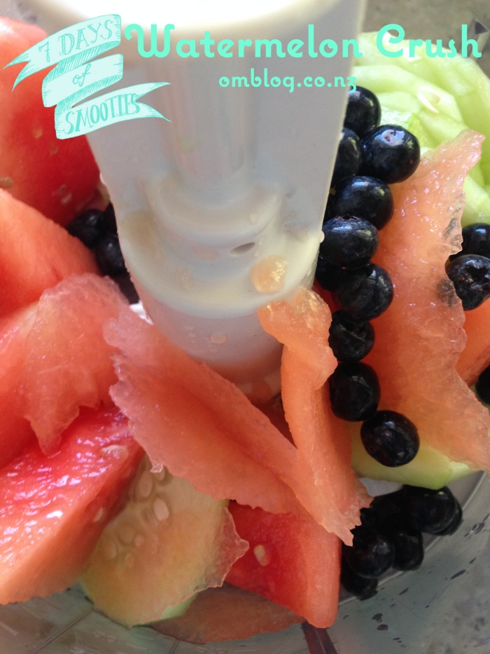Watermelon Cucumber Blueberry Coconut Water Crush Smoothie fruits