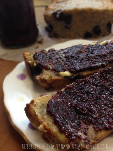 Blueberry & Chia Banana Bread
