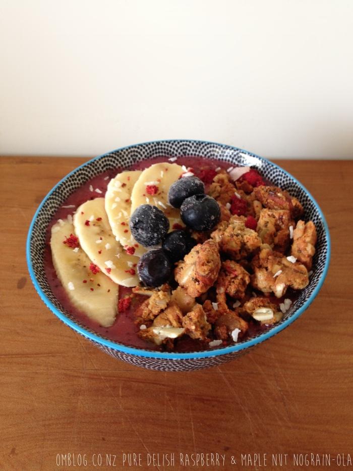 Pure Delish Raspberry & Maple Nut Nograin-ola on Omblog.