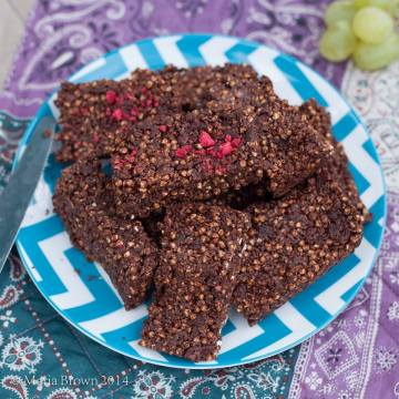 Cranberry & Cacao Crackle Bars